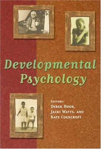 Developmental Psychology: Hook, Derek; Watts,