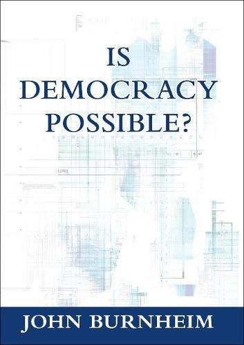 9781920898427: Is Democracy Possible?