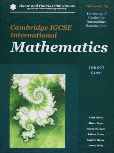 9781921500220: Cambridge IGCSE International Mathematics 0607 Core