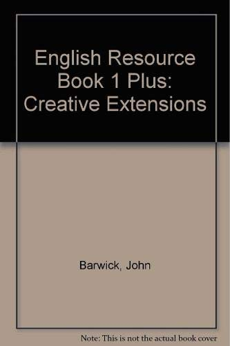 9781921586330: English Resource Book 1 Plus: Creative Extensions