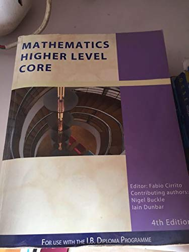 9781921917097: Mathematics Higher Level Core (IB Mathematics)