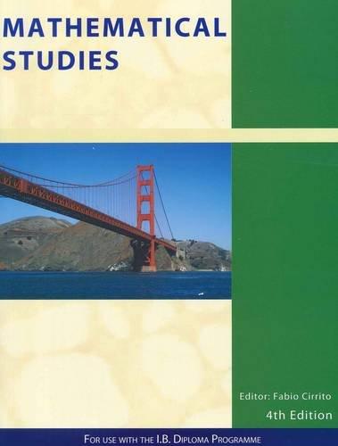 9781921917110: Mathematical Studies: For Use Witn the International Baccalaureate Diploma Programme (IB Mathematics)