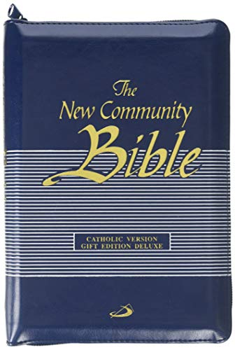 9781921963209: New Community Bible: Edition Deluxe with Zipper, Blue