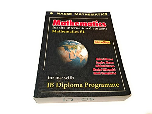 MATHEMATICS F/INTL.STUDENT:SL-W/CD: Haese, Sandra; Haese,