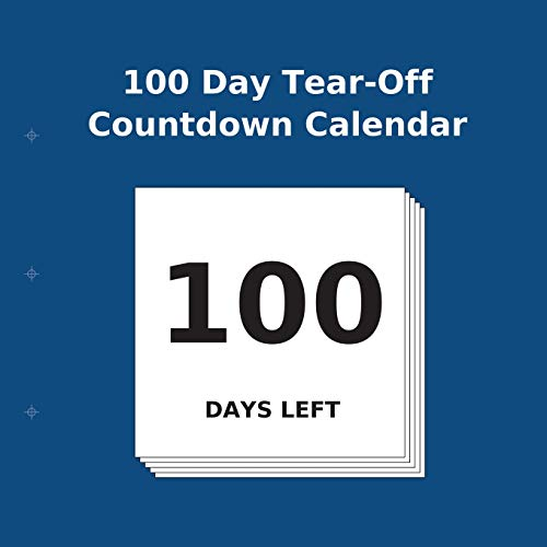 100 Day Tear-Off Countdown Calendar: Buy Countdown Calendar