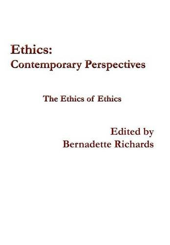 9781922239594: Ethics: Contemporary Perspectives: The Ethics of Ethics (Ethics Journal)