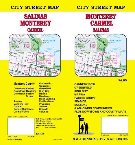 Monterey, Carmel and Salinas, CA Street map: G.M. Johnson