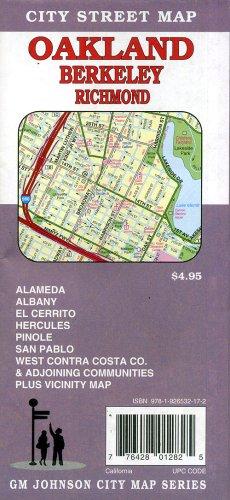 9781926532172: Oakland, Berkeley & Richmond City Street map, California