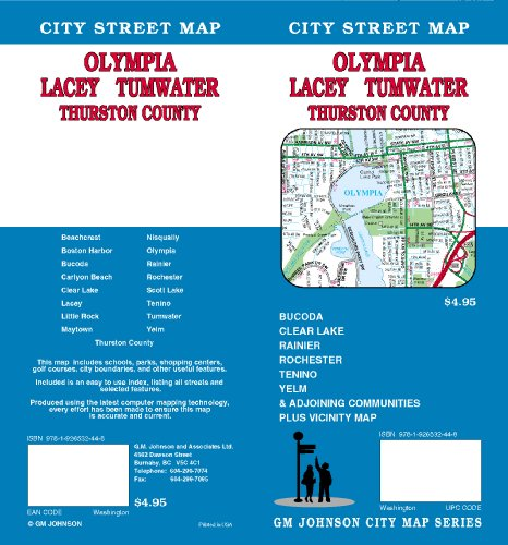 9781926532448: Olympia/Lacey/Tumwater/Thruston County City Street Map