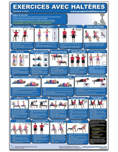 Exercices avec Halters - Epaules et bras - Affiche - Dumbbell Exercises-Shoulders and Arms (French ...