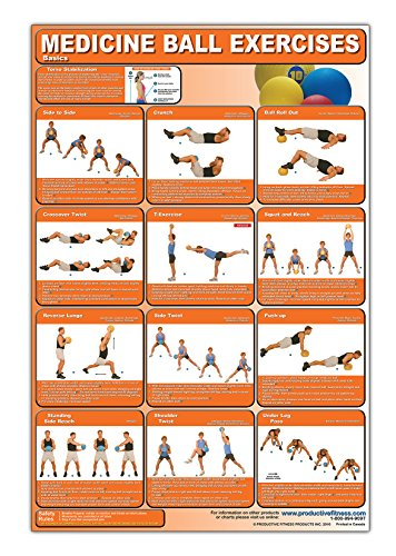 Medicine Ball Exercises - Basics Laminated (Poster): Michael Jespersen