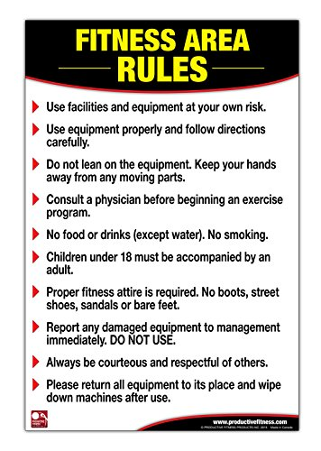 fitness area rules poster chart gym safety rules poster rules