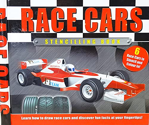 RACE CARS STENCILLING BOOK (6 Race Cars: Kite Hill Books