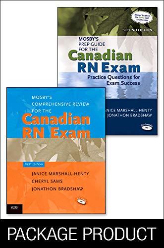 9781926648583: Mosby's Prep Guide for the Canadian RN Exam 2e + Mosby's Comprehensive Review for the Canadian RN Exam Pkg