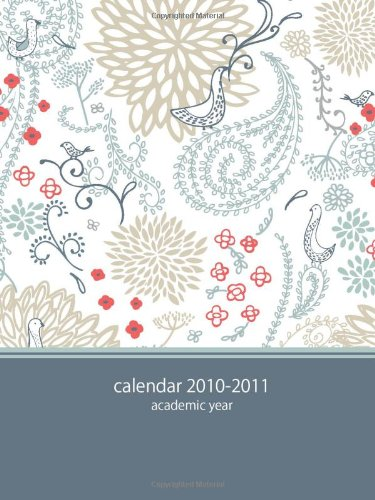 9781926684376: 2010-2011 Academic POCKET Planner: blue paisley