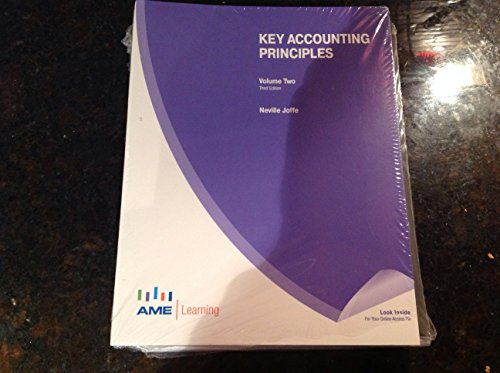 Key Accounting Principles - Volume Two: Neville Joffe