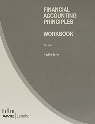 Financial Accounting Principles Workbook: Neville Joffe