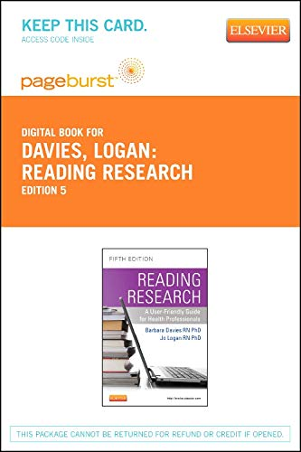 9781927406120: Reading Research: A User-Friendly Guide for Nurses and Other Health Professionals - Elsevier eBook on VitalSource (Retail Access Card): A User-Friendly Guide for Health Professionals