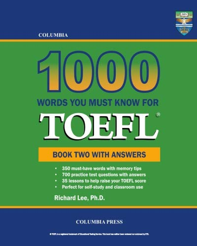 9781927647127: Columbia 1000 Words You Must Know for TOEFL: Book Two with Answers (Volume 2)