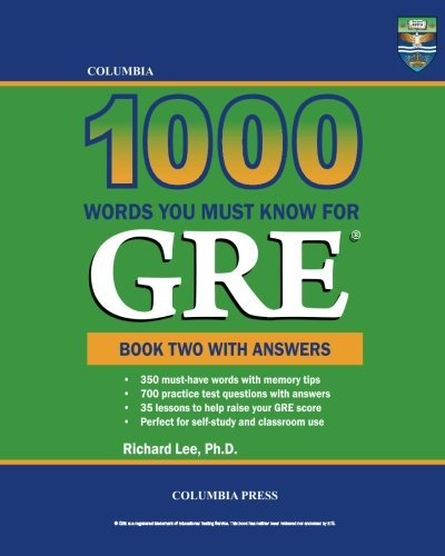 9781927647189: Columbia 1000 Words You Must Know for GRE: Book Two with Answers (Volume 2)