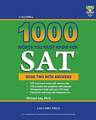 9781927647240: Columbia 1000 Words You Must Know for SAT: Book Two with Answers (Volume 2)