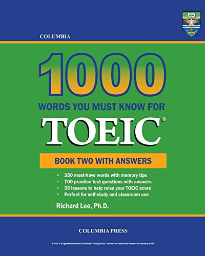 9781927647301: Columbia 1000 Words You Must Know for TOEIC: Book Two with Answers (Volume 2)