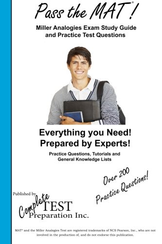 9781928077664: Pass the MAT! Complete Miller Analogies Study Guide and Practice Test Questions