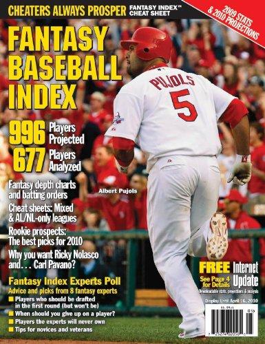 9781928692195: Fantasy Baseball Index 2010