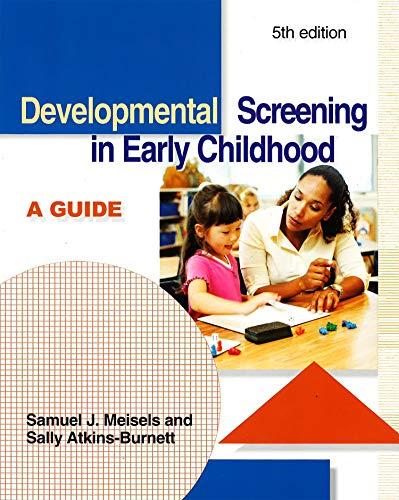 9781928896258: Developmental Screening in Early Childhood: A Guide
