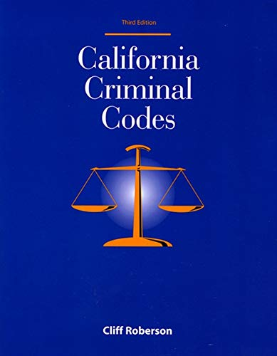 9781928916246: California Criminal Codes