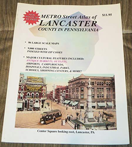 9781928955061: Metro street atlas of Lancaster County in Pennsylvania