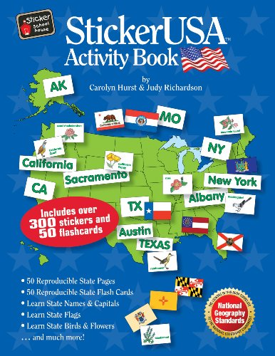 StickerUSA Activity Book with CD: Carolyn J. Hurst