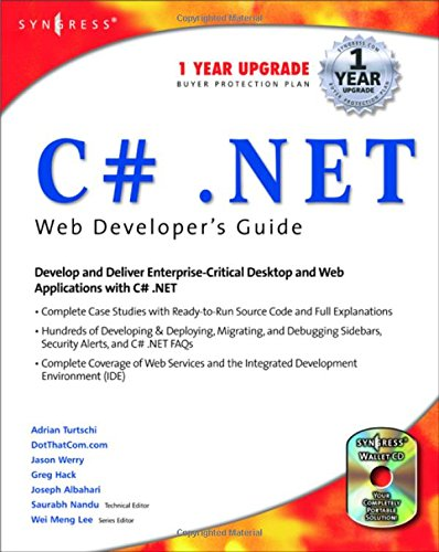 C#.net Web Developer's Guide (With CD-ROM) Nandu,