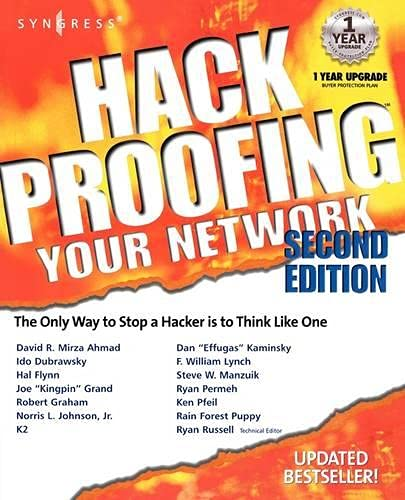 9781928994701: Hack Proofing Your Network 2E