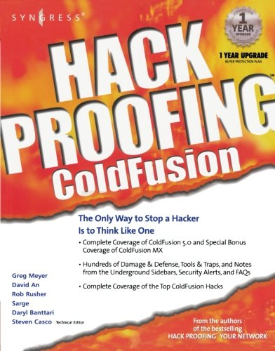 9781928994770: Hack Proofing ColdFusion