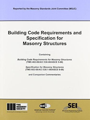 9781929081295: ACI 530-08 Building Code Requirements and Specification for Masonry Structures