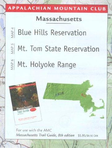 9781929173570: Map Massachusetts: Blue Hills Reservation/Mount Tom/Holyoke Range