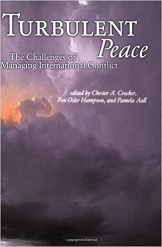 9781929223275: Turbulent Peace: The Challenges of Managing International Conflict