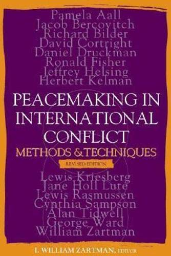9781929223657: Peacemaking in International Conflict: Methods and Techniques
