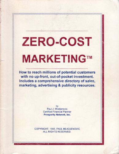 9781929277148: Zero-Cost Marketing