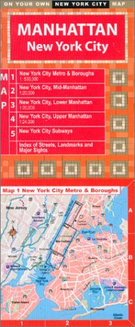 9781929377022: On Your Own Manhattan NYC Laminated Street Map
