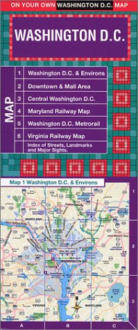 9781929377237: On Your Own Washington D.C. Laminated Street Map