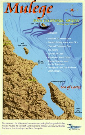 Mulege Fishing Chart and Guide: Map
