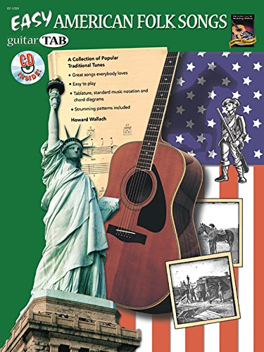 9781929395569: Easy American Folk Songs: A Collection of Popular Traditional Tunes (Guitar TAB), Book & CD