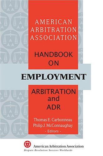 9781929446490: AAA Handbook on Employment Arbitration and ADR