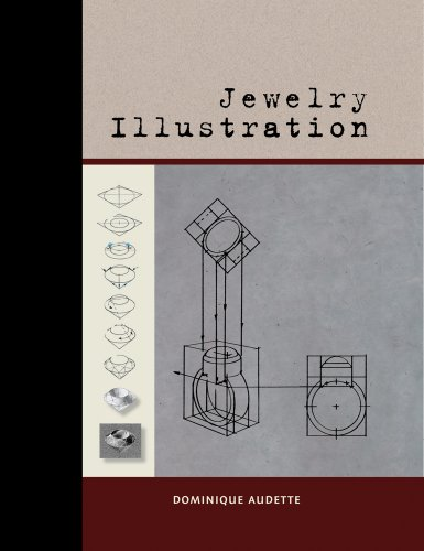 Jewelry Illustration 9781929565337 With almost 1000 drawings, this comprehensive book leads students systematically through the development of forms rendered in perspective, starting with simple boxes and working up to curvilinear jewelry objects. Beyond teaching the ability to render forms clearly for clients, this instruction will hone the ability to think three dimensionally. This book was originally written in French and published in Quebec where the author teaches jewelry illustration. The English-language edition features a new layout and more durable cover, but otherwise retains every powerful image of the original. There are only a few books about jewelry rendering, and none of them reaches back to the basics with the depth or detail found here.