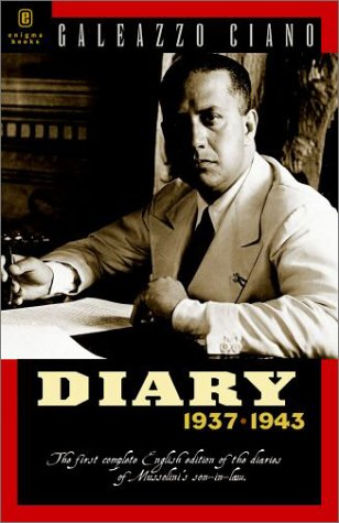 Diary 1937-1943. Preface by Renzo De Felice. Original introduction by Summer Welles.