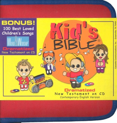 9781930034150: Kid's N.T. Audio Bible Zipper Case, Bible Stories for Children with 100+ Children's Gospel Songs - Dramatized Audio Bible New Testament CEV Version ... for fun or home school urriculum. 9th Edition