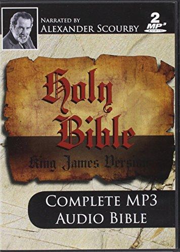 KJV Comp Scourby MP3 2 CDs Alexander Scourby-King james Version-Complete Audio Holy Bible-MP3-2 Disc