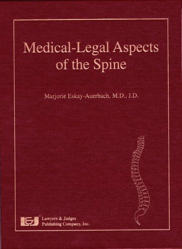 9781930056817: Medical-Legal Aspects of the Spine